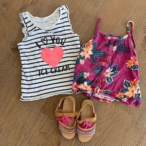 🍍little girl short & shoes bundle